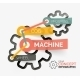 Gear Infographic Concept with Tag Connection - GraphicRiver Item for Sale