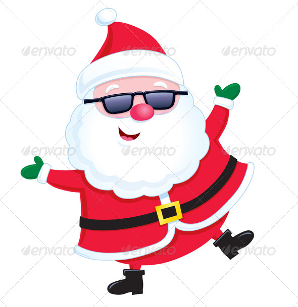 GraphicRiver Jolly Santa Wearing Sunglasses 8492723