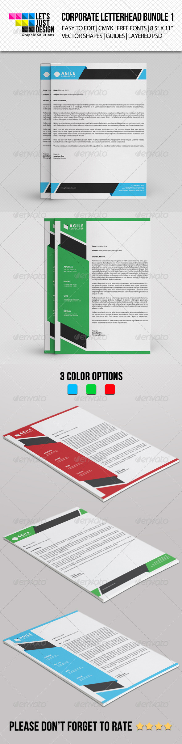 GraphicRiver Corporate Letterhead Bundle Vol 1 8492806