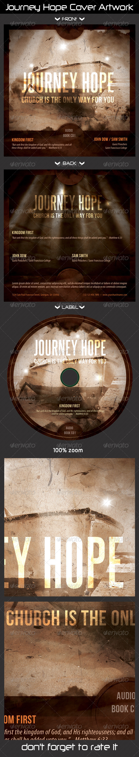 GraphicRiver Journey Hope CD Cover Artwork 8492988