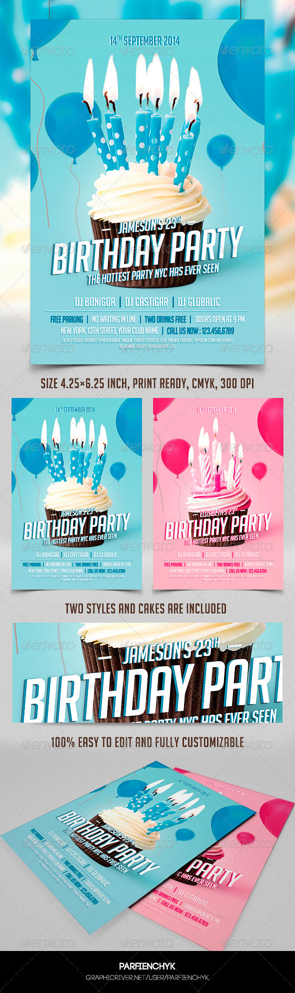 GraphicRiver Birthday Party Flyer Template 8493049