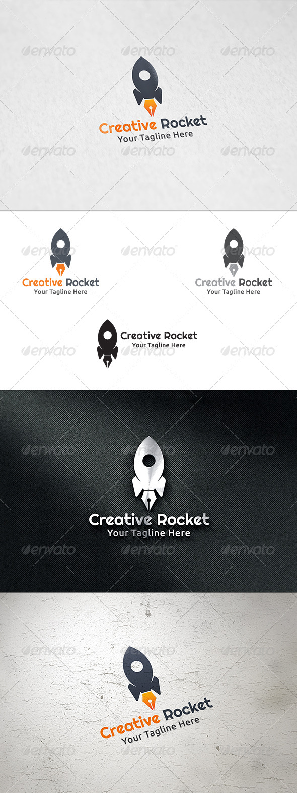GraphicRiver Creative Rocket Logo Template 8493134