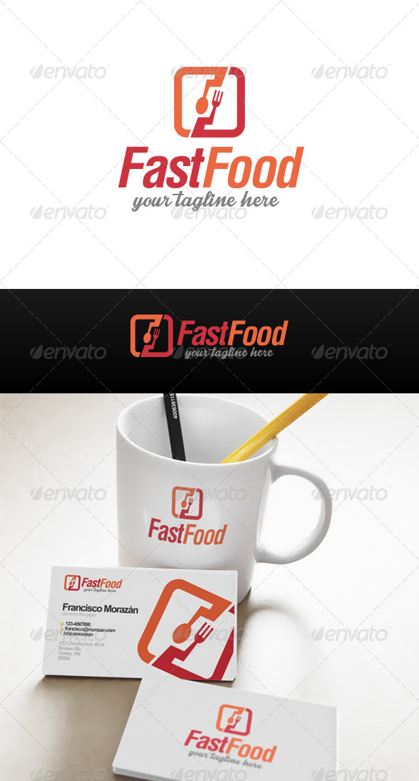 GraphicRiver Fast Food Logo 8493196
