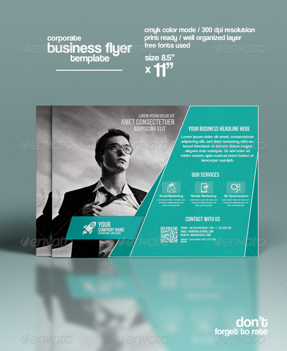GraphicRiver Corporate Flyer Template 8493410