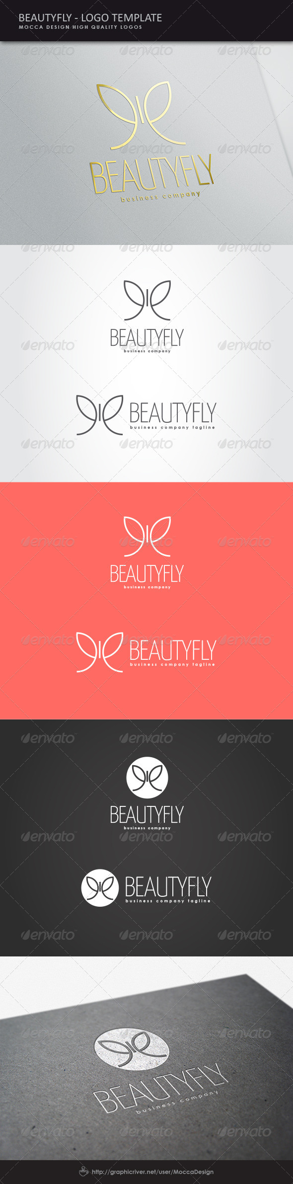 GraphicRiver Beautyfly Logo 8493569