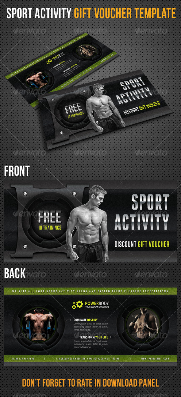 GraphicRiver Sport Activity Gift Voucher V25 8493679