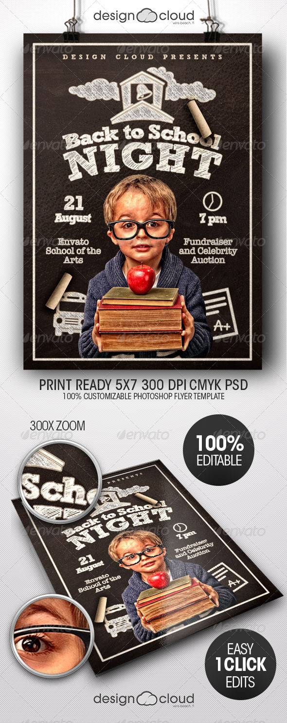 GraphicRiver Back to School Night Flyer Template 8493689