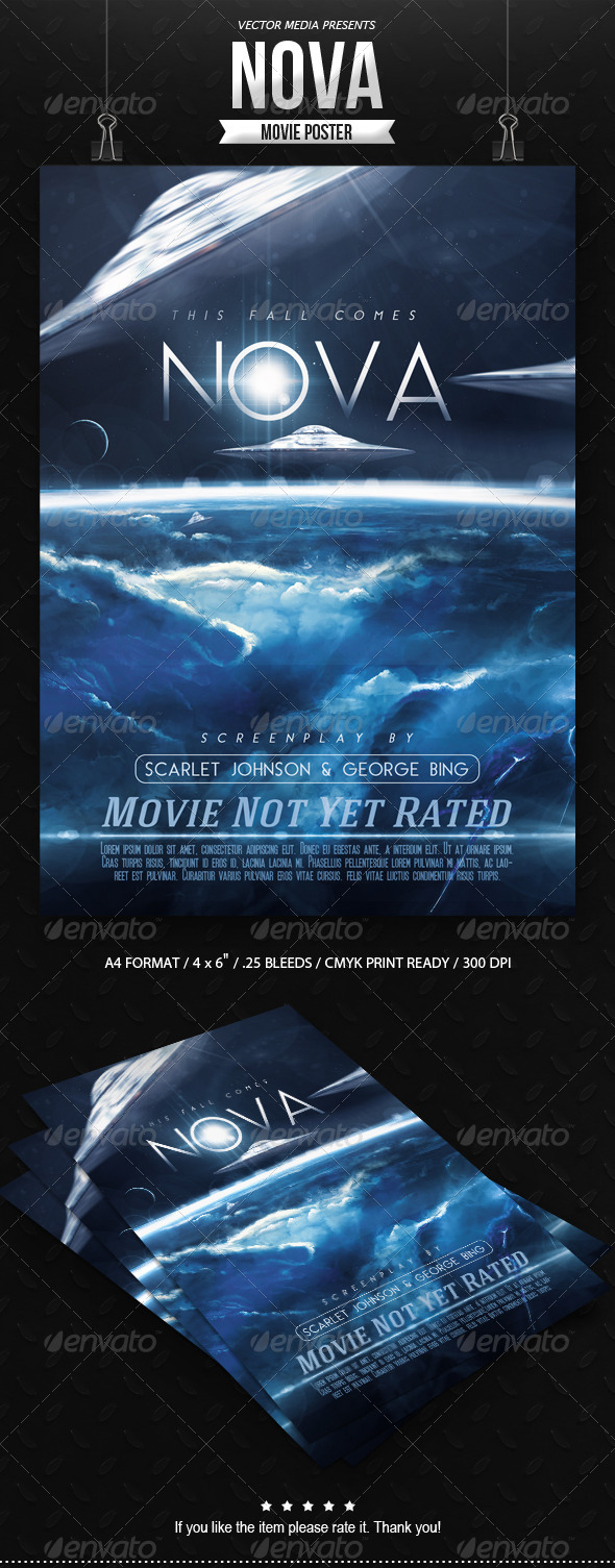GraphicRiver Nova Movie Poster 8493717