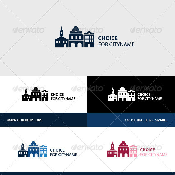 GraphicRiver Old Town Logo 8493735