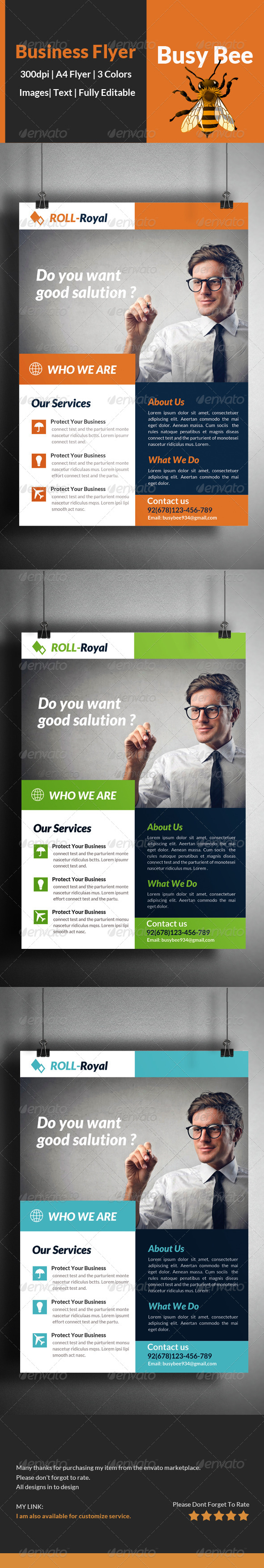 GraphicRiver Business Corporate Flyer Template 8431324