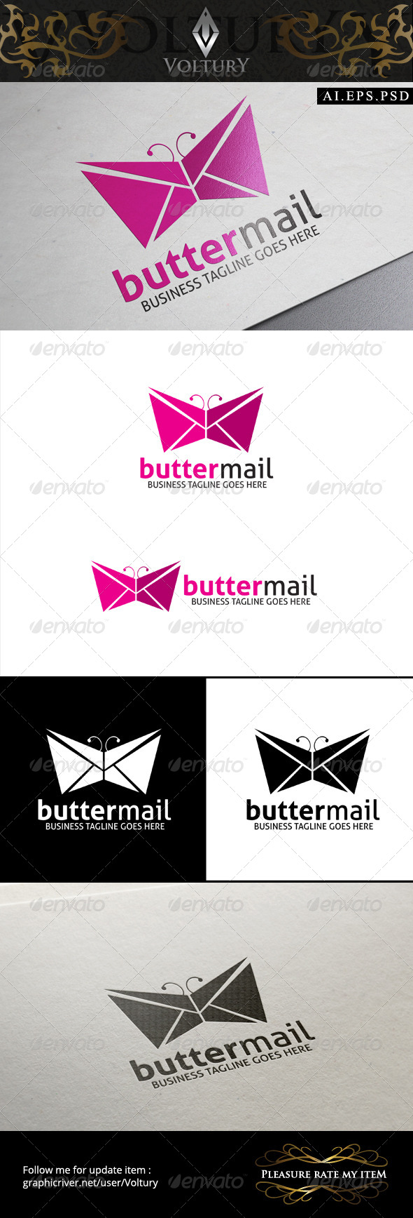 GraphicRiver Butter Mail Logo 8493813