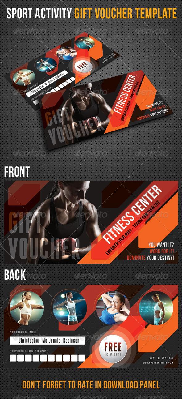 Sport Activity Gift Voucher V26