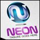 Neon Letter N 3D Logo - GraphicRiver Item for Sale