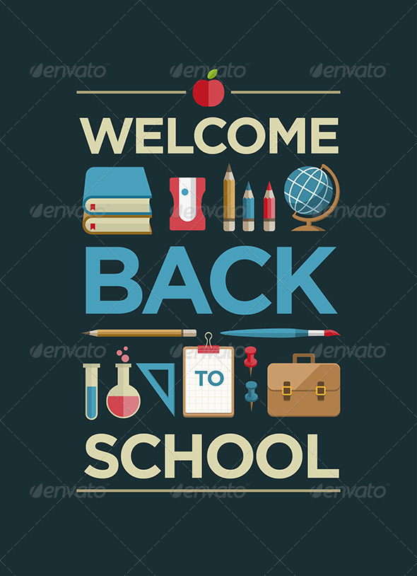 GraphicRiver Welcome Back to School Poster 8493888