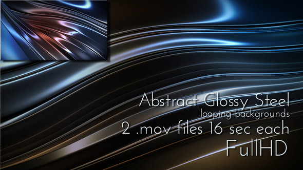 Abstract Glossy Steel Background