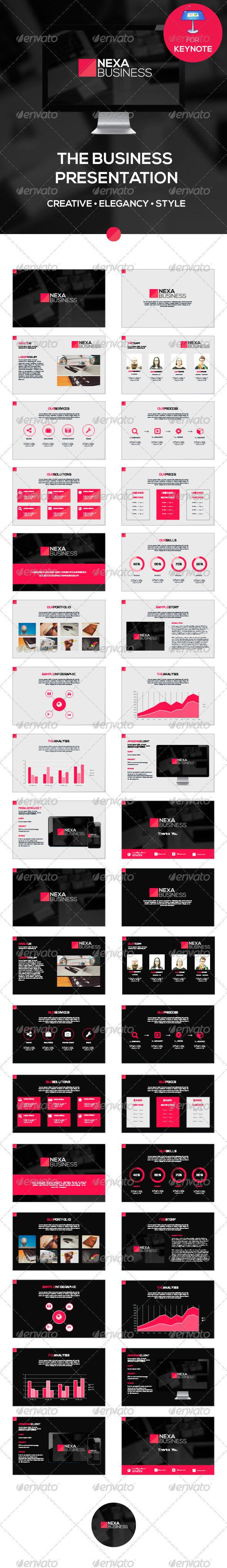 GraphicRiver Nexa Business Keynote Template 8493999