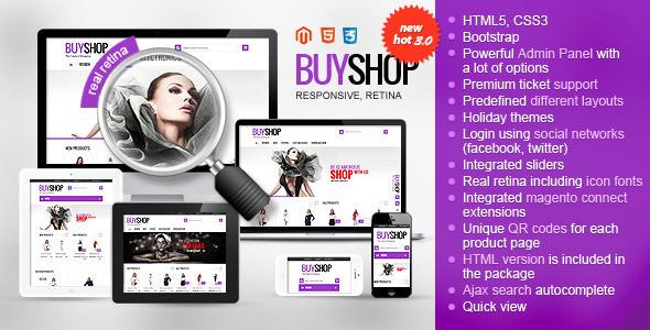 BUYSHOP - Premium Responsive Retina Magento theme - Magento eCommerce