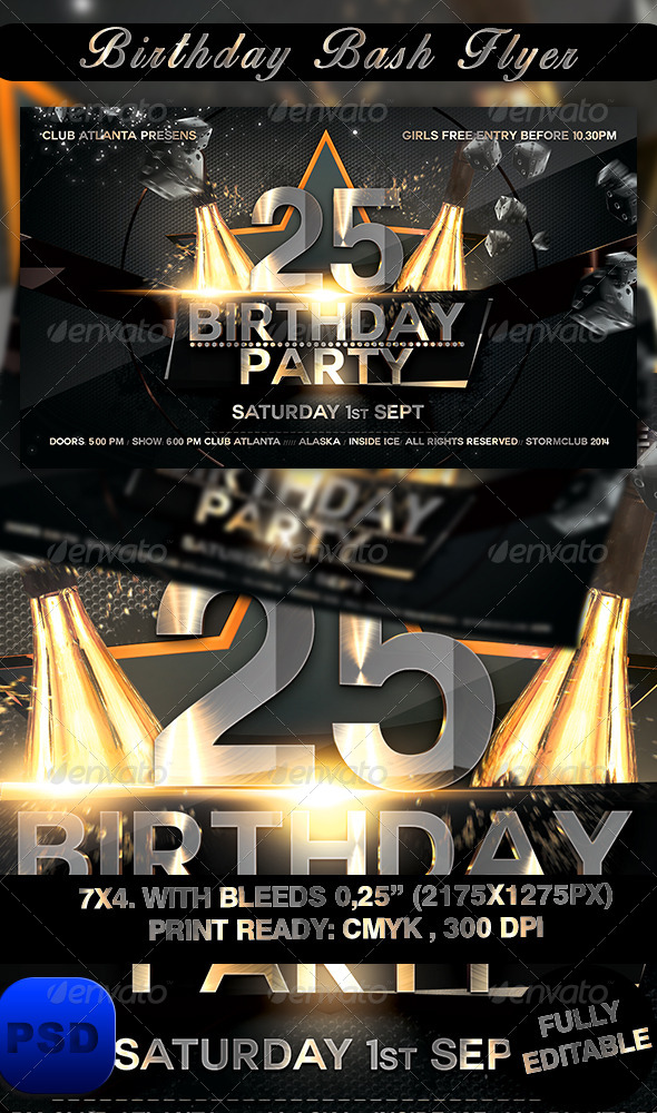 GraphicRiver Birthday Bash Flyer 8494031