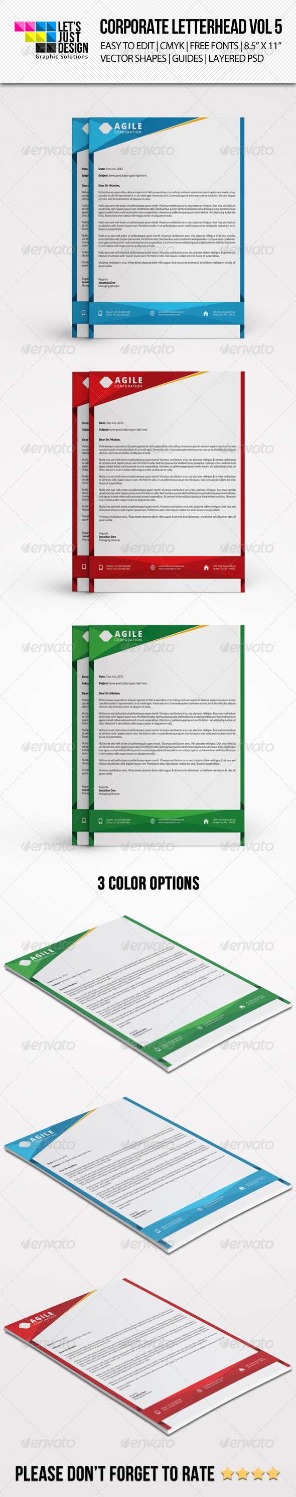 GraphicRiver Corporate Letterhead Vol 5 8494033