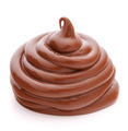 Chocolate cream swirl isolated on white background cutout - PhotoDune Item for Sale
