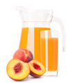 Peach fruit juice in glass jug - PhotoDune Item for Sale