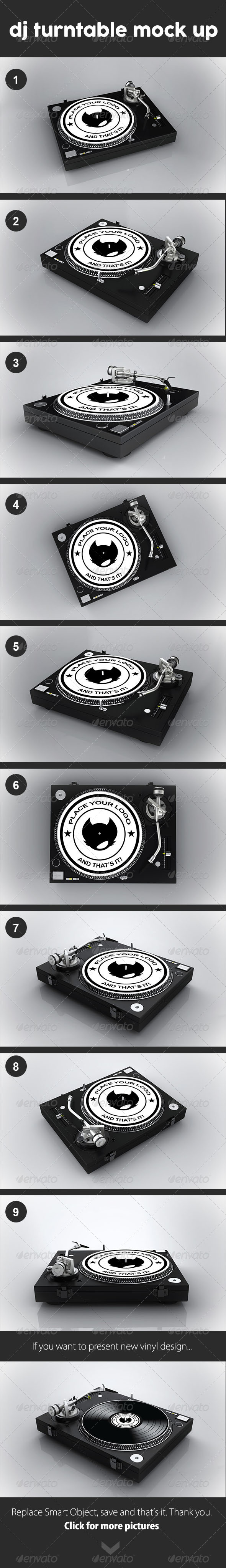 GraphicRiver Dj Turntable Mock Up 8492445