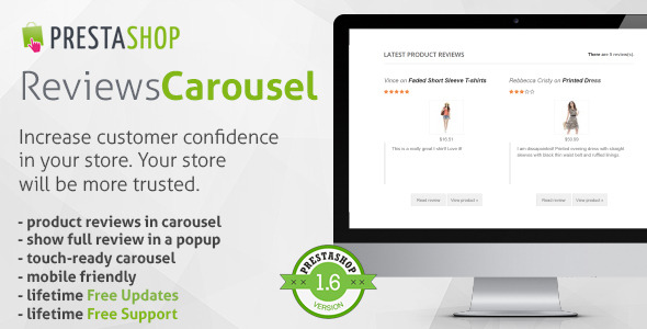 Carousel para Mostrar Reviews en Prestashop