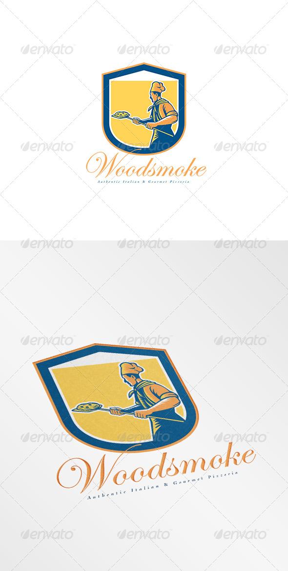 GraphicRiver Woodsmoke Italian Pizzeria Logo 8494248