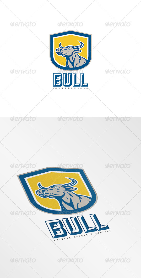 GraphicRiver Bull Private Security Company Logo 8494249