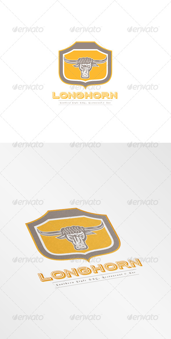 GraphicRiver Longhorn Southern Style Restaurant Logo 8494254