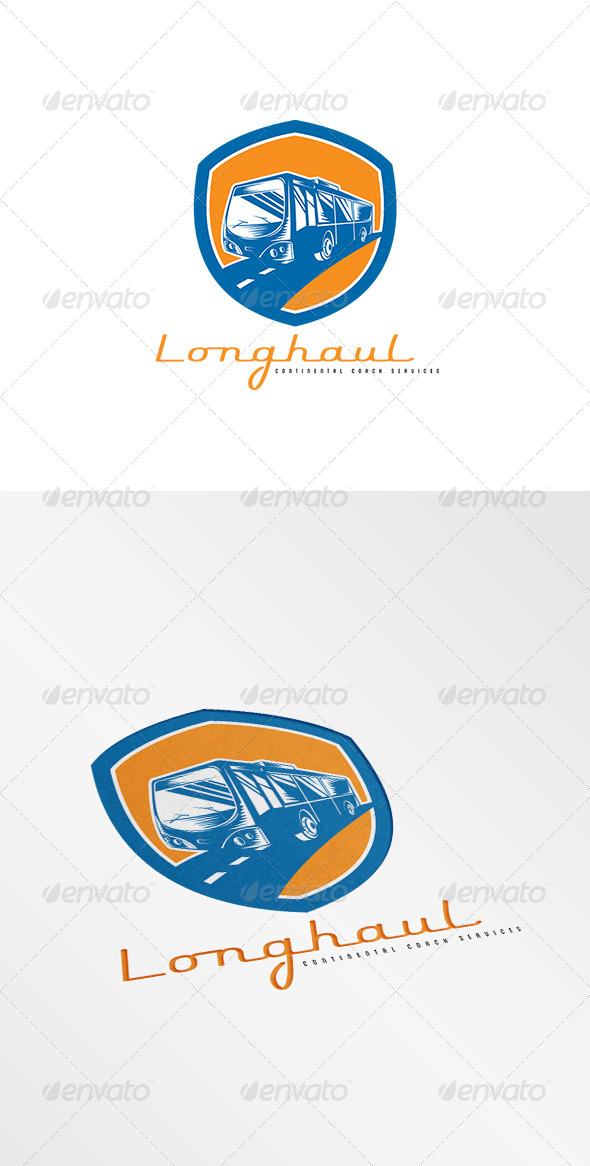 GraphicRiver Longhaul Coach Services Logo 8494256