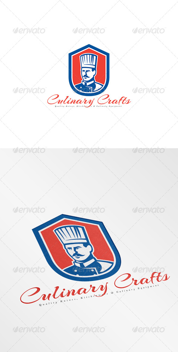 GraphicRiver Culinary Crafts Kitchen Equipments Logo 8494263