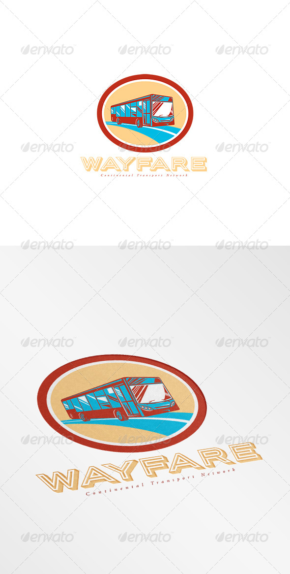 GraphicRiver Wayfare Continental Transport Network Logo 8494268