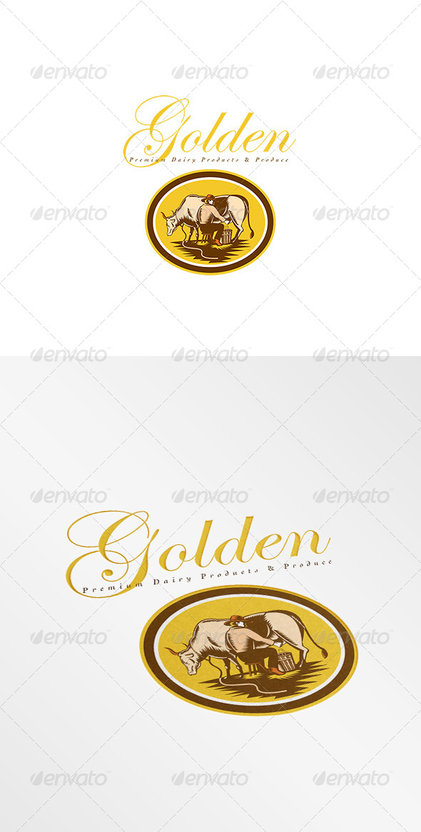 GraphicRiver Golden Premium Dairy Produce Logo 8494277