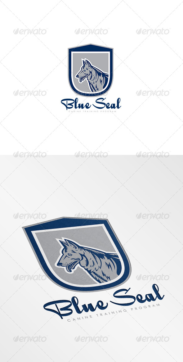 GraphicRiver Blue Seal Canine Training Program Logo 8494280