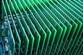a row of green circuit board
