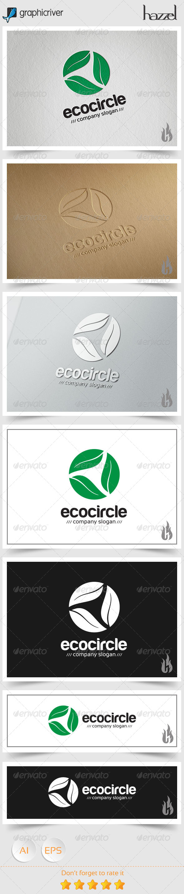 GraphicRiver Eco Circle Logo 8494451