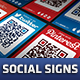 Social Media QR Code Poster Signs - CodeCanyon Item for Sale