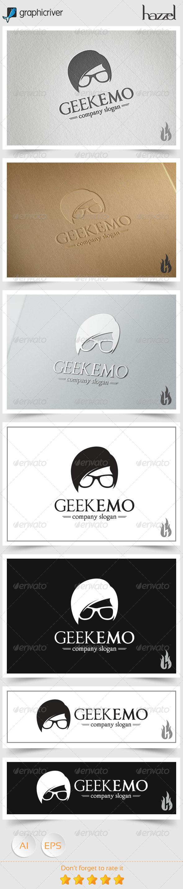GraphicRiver Geek Emo Logo 8494464