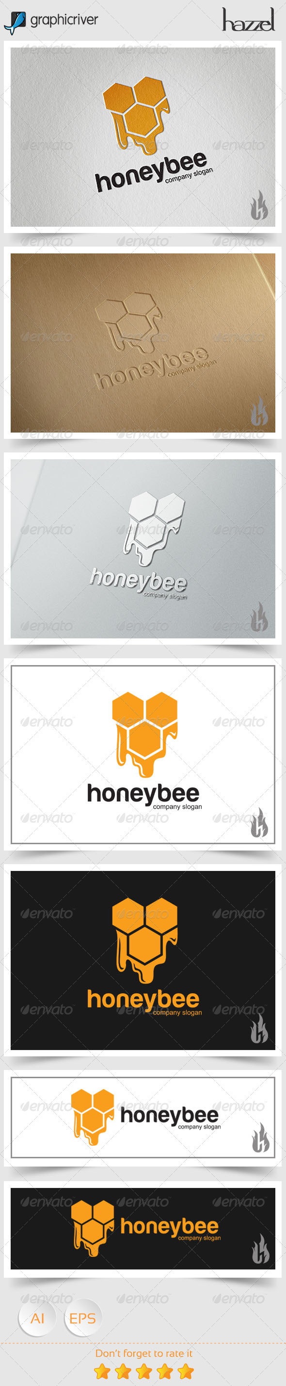 GraphicRiver Honey Bee Logo 8494510