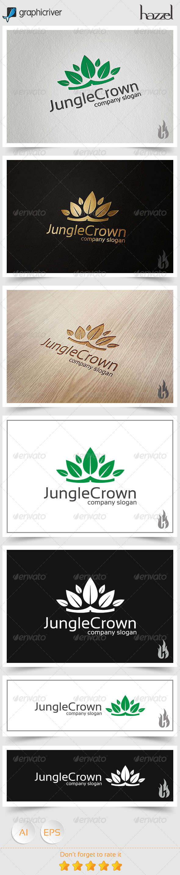 GraphicRiver Jungle Crown Logo 8494512