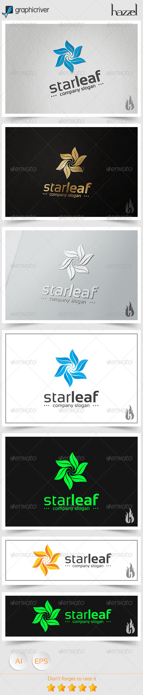 GraphicRiver Star Leaf Logo 8494567