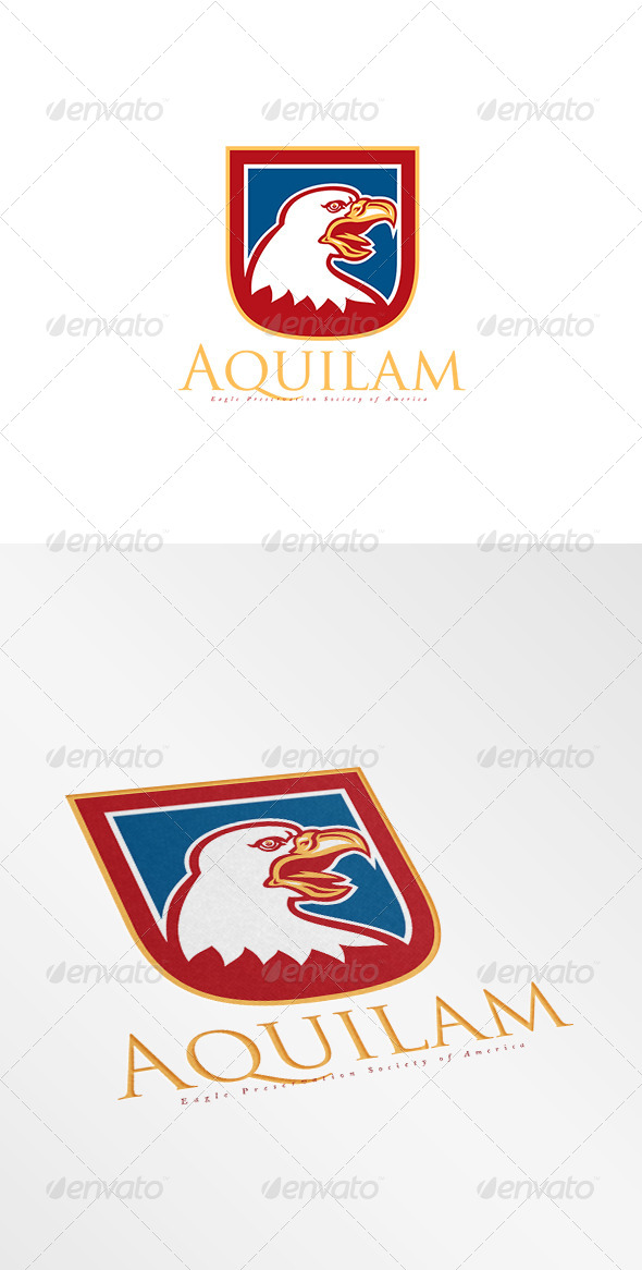 GraphicRiver Aquilam Eagle Preservation Society Logo 8494750