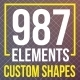 Premium Custom Shapes Bundle - GraphicRiver Item for Sale