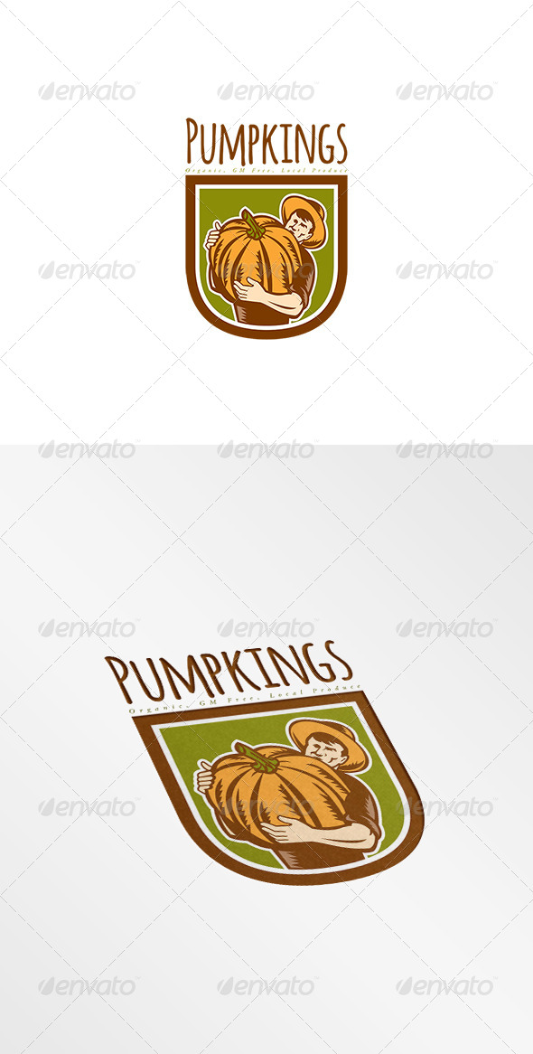 GraphicRiver Pumpkings Organic Local Produce Logo 8494861