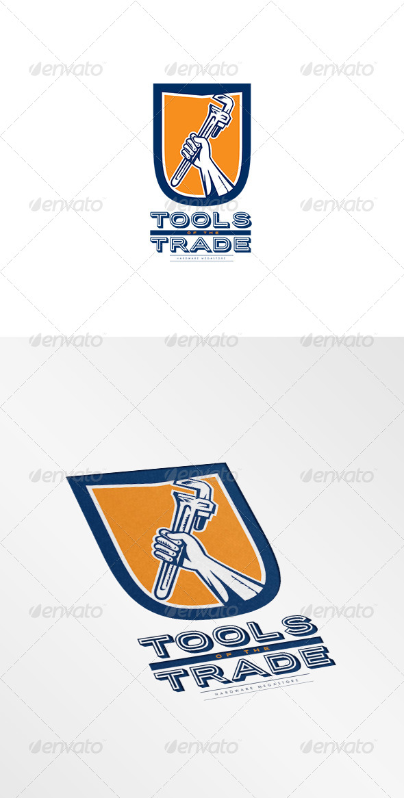 GraphicRiver Tools of the Trade Hardware MegaStore Logo 8494897