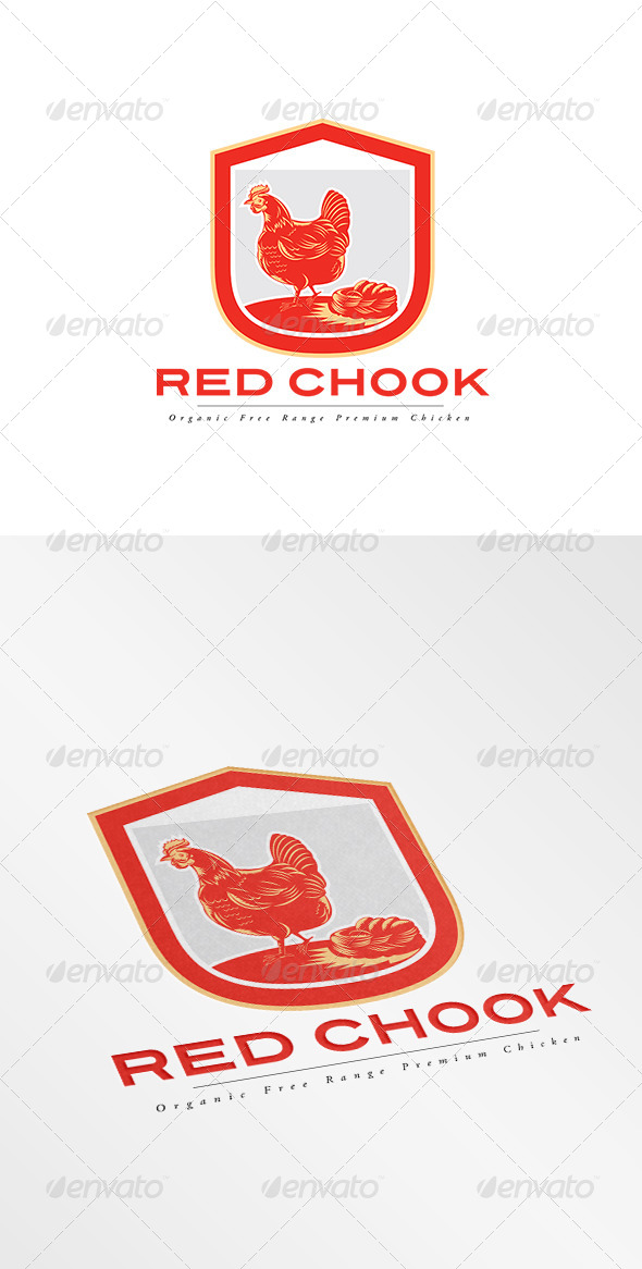 GraphicRiver Red Chook Free Range Chicken Logo 8494913