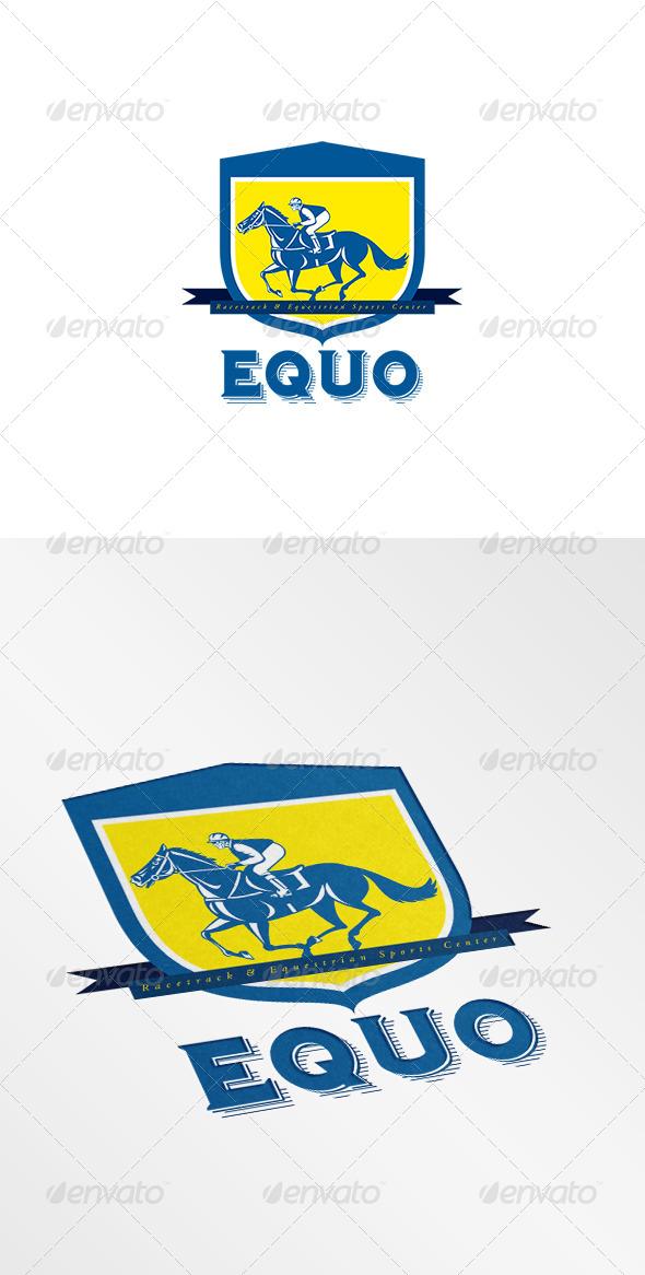 GraphicRiver Equo Equestrian Sports Center Logo 8494928