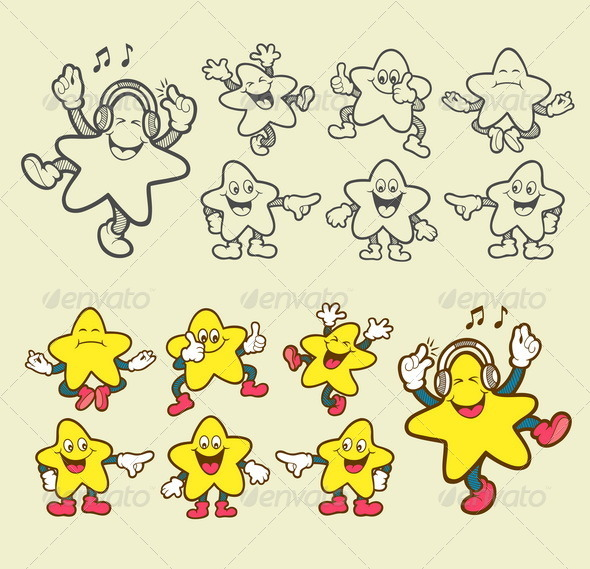GraphicRiver Smiley Star Icons 8494934