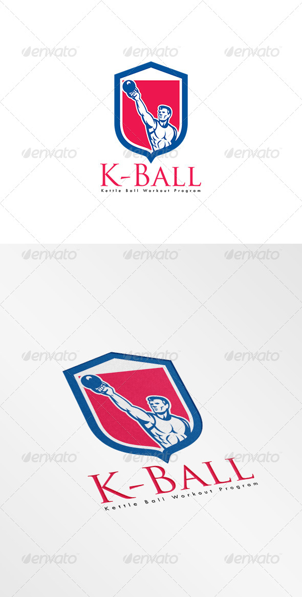 GraphicRiver K-Ball Kettle Bell Workout Program Logo 8494939